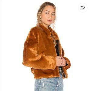 Free People Faux Fur Bomber